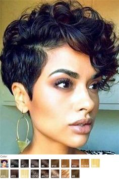 Curly Hairstyles 21 Fabulous Curly Pixie Cuts & Wavy Pixie Cuts for Short Hair Short Curly Pixie Cuts & Wavy Pixie Cuts for black Women Curly Pixie Haircuts, Curly Pixie Cuts, Short Curly Wigs, Straight Hairstyles, Girl Hairstyles, Shag Hairstyles, Layered Hairstyles, Black Short Hairstyles, Hairstyles 2016