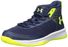 Under Armour Junior GS Jet 2017 Basketball Shoes Black Sports Breathable