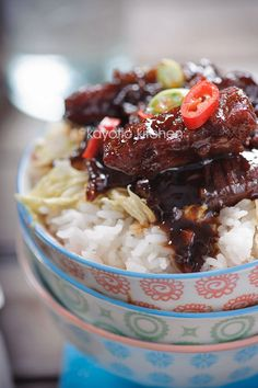 Babi Ketjap:Babi Ketjap (kecap) is a typically Indonesian dish: pork simmered in a sweet soy sauce.