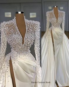 Couture Wedding Gowns, Couture Dresses, Bridal Gowns, Wedding Dresses, Elegant Dresses, Beautiful Dresses, Formal Dresses, V Neck Prom Dresses, High Fashion Dresses