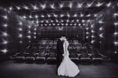 Photo opps in the cinema - Thompson Hotel Wedding