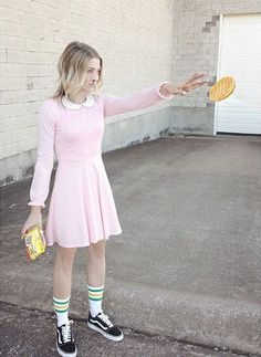 Spooky Babes # You're It:  Check out our favorite Vans Girls Halloween costumes from IG this year!   mollcatas Eleven from Stranger Things