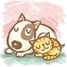 Dog and Cat by Toru Sanogawa, via Behance