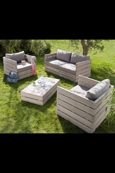 Mobilier jardin dont table basse