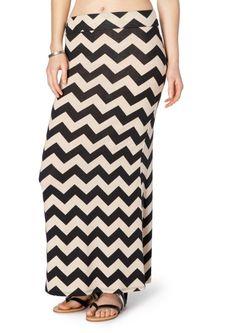Soft Brushed Chevron Maxi Skirt | Maxi | rue21