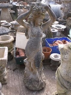 Reclaimed Garden Statuary - Frome Reclamation Limited Flower Pots, Flowers, Garden Edging, Urn, Garden Sculpture, Statue, Architecture, Outdoor Decor, Flower Vases