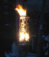 Perfect Pua (Flower) Propane Gas Tiki Torch  From Hawaii! Love Tiki!!