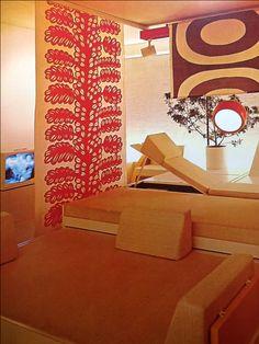 1972 vintage mod orange interior decor