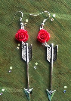 Ready to Ship Arrow Earrings Handmade by ArsenicaAccoutrement, $12.00