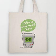 Welcome Back My Old Friend (Game boy) Tote Bag by Kioshi Shimabuku - $18.00