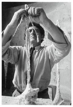 Gordon Parks; Alberto Giacometti  working in his Atelier, Paris, 1951