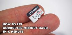 How To Fix Corrupted Memory Card, step by step tutorial. Repair Corrupted SD Card in a minute.Nearly every user uses the memory card in the Smartphone. Life Hacks Computer, Computer Diy, Computer Projects, Computer Coding, Computer Repair, Computer Science, Computer Problems, Computer Lessons, Laptop Repair
