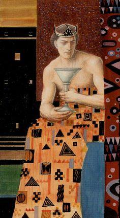 Le roi de coupes - Tarot de Klimt par A. Atanassov
