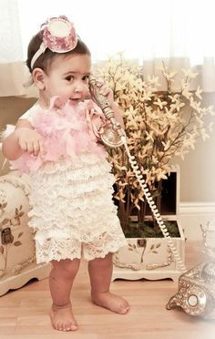 Dainty Girls Soft Lace Petti Romper