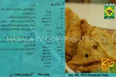 Famous Masala TV Chef Rida Aftab Aloo Kay Samosay Urdu Recipe. Masala TV Program Terka Urdu English Recipe Aloo Kay Samosay by Rida Aftab for Ramadan Irfat Recipes.