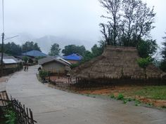 Akha village.  I was the first foreigner they ever seen in this village