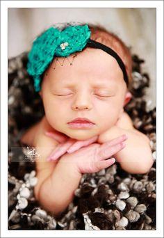 Shabby Chic Newborn Headband and Photography Prop
