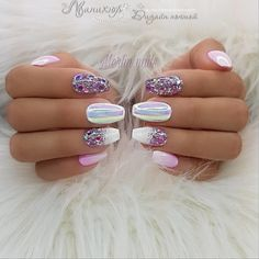 100 Spring Nail Art Designs for Women 2020 Love Nails, Pretty Nails, Fun Nails, Sparkle Nails, Spring Nail Art, Cute Spring Nails, Nagel Gel, Cute Nail Designs, Nail Manicure