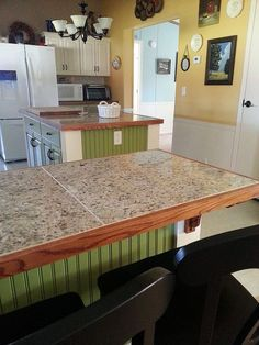 how to redo walls and cabinets in mobile home, home improvement, how to, kitchen cabinets, kitchen design, painting, After painting