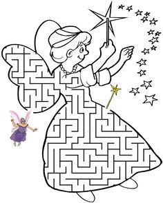 This fairy godmother shaped maze is a great printable worksheet for kids who love fairy tales. Guide the fairy godmother to her wand. Maze Puzzles, Puzzles For Kids, Mazes For Kids Printable, Free Printable, Maze Worksheet, Infant Activities, Baby Activites, Activity Sheets, Fairy Godmother