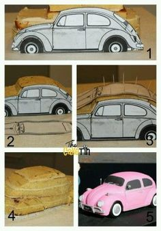 PinkCar cake