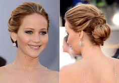 Hochsteckfrisur Jennifer Lawrence Oscars 2013