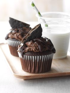 #ThinMints Cupcakes. #GirlScoutCookies
