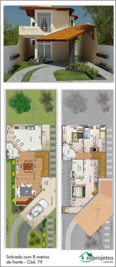 Casa com salas de estar e jantar conjugados, e cozinha bem ampla. Sua garagem possui 24,12 m2 de área. Com 3 dormitórios, e uma suíte com acesso a uma confortável varanda. Telhado em telha de barro.