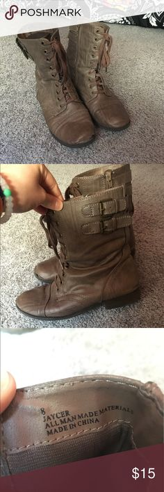 Combat boots Worn but still in good condition and have a lot of wear left! Shoes Combat & Moto Boots