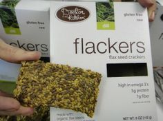 Flackers may be illegal. Not sure, but they're primarily made of flax seeds and spices with something gluten-free holding them together. High protein (for a cracker) and low carb so I've been using them as a very limited snack when I just need a non-nut crunch.