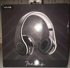 New Vaas Theory Bluetooth Headphones Black SEALED in Box | eBay