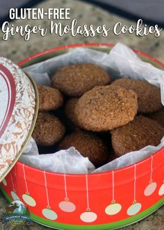 Gluten-Free Ginger Molasses Cookies | If you need something in a hurry ...