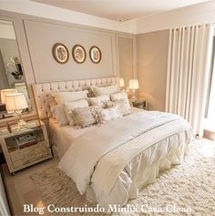 Bedroom Design And Decoration Tips And Ideas - Top Style Decor Dream Bedroom, Home Bedroom, Bedroom Decor, Pretty Bedroom, Master Room, Suites, Luxurious Bedrooms, Beautiful Bedrooms, House