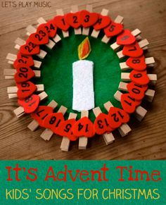 Advent Time : Kids' Songs for Christmas - Let's Play Music Christmas Songs For Kids, Preschool Christmas, Christmas Activities, Simple Christmas, Craft Activities, Christmas Holidays, 2 Advent, Advent Wreath, Kids Advent