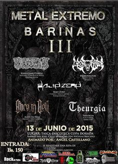 Cresta Metálica Producciones » Metal Extremo Barinas III // 13 Junio 2015