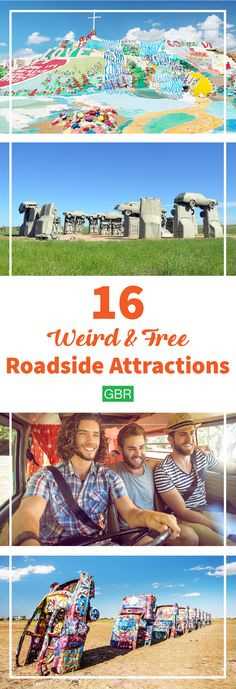 Make your road trip even better with these weird and free roadside attractions. Head over to our profile to learn how you can travel on a budget. Article link: https://www.gobankingrates.com/personal-finance/americas-weirdest-free-roadside-attractions/?utm_source=pinterest&utm_medium=social&utm_campaign=gbrposts