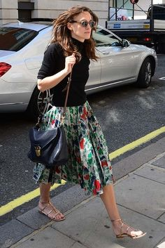 Keira Knightley arriving at BBC Radio, July 2014