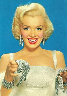 Diamonds are a girl's best friend, Marilyn Monroe @rubylanecom #diamonds #rubylane