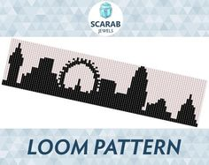 Looking for your next project? You're going to love London Skyline Pattern Loom Bead Cuff by designer ScarabJewels. - via @Craftsy
