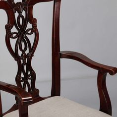 Set Of Eight Chippendale Style Mahogany Chairs