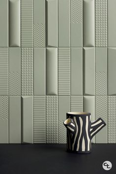 Ravenna 3D Essentials is a one-of-a-kind wall tile; available in 4 colors and 6 three-dimensional surfaces. Explore light and shadow to create truly unique spaces. Espace Design, Deco Cool, Wall Panel Design, Wall Cladding, Decorative Tile, Wall Patterns, Wall Treatments, Tile Design, Design Design