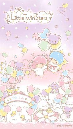 50 Ideas Wall Paper Cartoon Kawaii Little Twin Stars My Melody Wallpaper, Sanrio Wallpaper, Star Wallpaper, Hello Kitty Wallpaper, Trendy Wallpaper, Kawaii Wallpaper, Wallpaper Iphone Cute, Little Twin Stars, Sanrio Characters