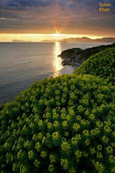 Superb view of Sunset of Italy