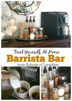 Make An At Home Barista Bar - Echoes of Laughter