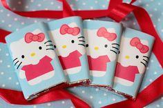 FREE printable Hello Kitty chocolate wraps