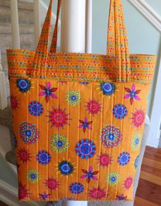 Inspired by Fabric: Tutorial: Calypso Tote use with Winnie fabric.