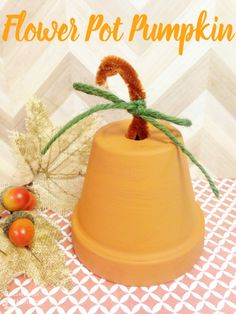 DIY Flower Pot Pumpkin | Optimistic Mommy