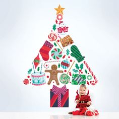 Merry Tree Wall Decal is  is peel and stick. NO TOOLS REQUIRED. Easy to remove and reuse without damaging your walls.