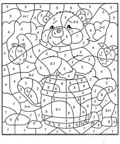 Coloring For Kids, Coloring Pages, Brain Teasers, Paint By Number, Counseling, Numbers, Preschool, Printables, Student