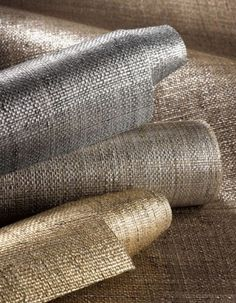 This was a style option for wallpaper in your bedroom Phillip Jeffries Wallpaper Collection - Metallic Raffia Metallic Wallpaper, Home Wallpaper, Textured Wallpaper, Wallpaper Lounge, Wallpaper Grasscloth, Linen Wallpaper, Wallpaper Gallery, Modern Wallpaper, Wallpaper Collection